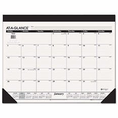 AT-A-GLANCE - Monthly Refillable Desk Pad, 22 x 17, White -  2016