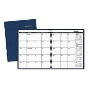 AT-A-GLANCE - Monthly Planner, 9 x 11, Navy -  2016-2017