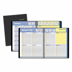 AT-A-GLANCE - QuickNotes Weekly/Monthly Appointment Book, 8 x 9 7/8, Black -  2016