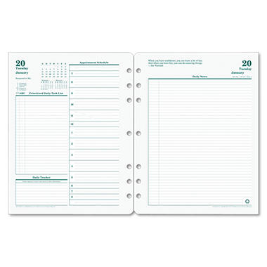 Franklin Covey - Original Dated Daily Planner Refill, January-December, 8-1/2 x 11 -  2016