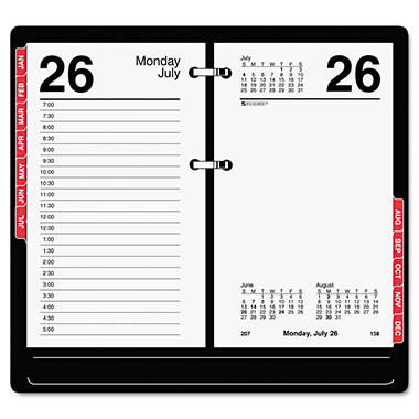 "At-A-Glance 2012 Desk Calendar Refill with Tabs, 3 1/2"" x 6"""
