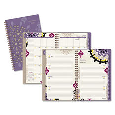AT-A-GLANCE Vienna Weekly/Monthly Appointment Book, 4 7/8 x 8, Purple, 2016