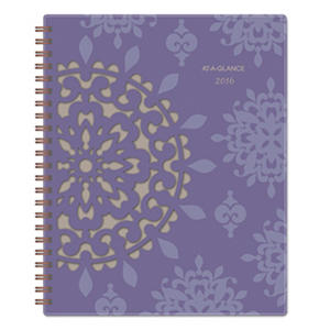 AT-A-GLANCE Vienna Weekly/Monthly Appointment Book, 5 x 8, Purple, 2016