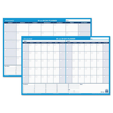 AT-A-GLANCE Recycled 30/60-Day Undated Horizontal Erasable Wall Planner -  36