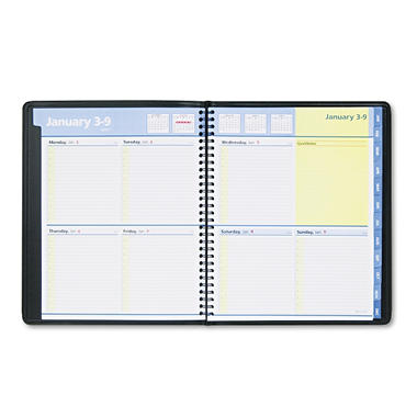 AT-A-GLANCE - QuickNotes Appointment Book - Black