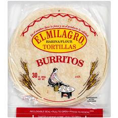 """El Milagro 11"""" Flour Burrito - 8 ct."""