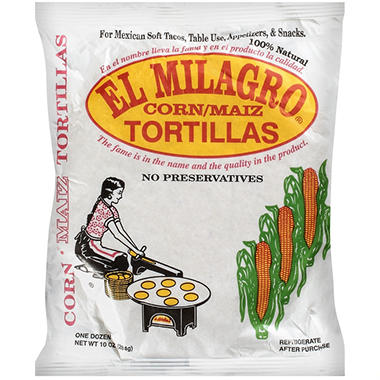 El Milagro® Corn Tortillas - 10 oz.