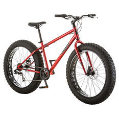 "26""  Mongoose Beast Men's Fat Tire Mountain Bike, Black"