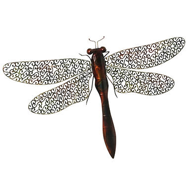 """Dragonfly"" Metal Wall D�cor"