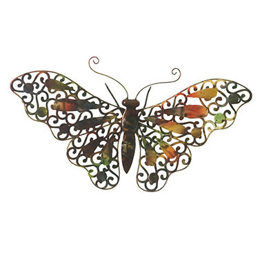 """Butterfly"" Metal Wall Décor"