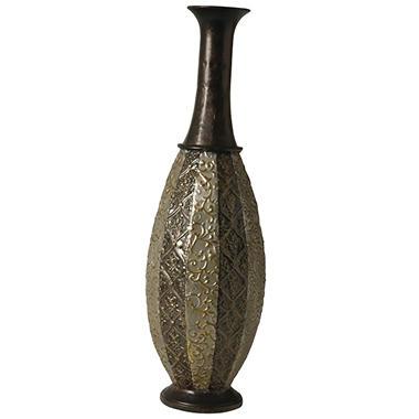 Embossed Metal Vase