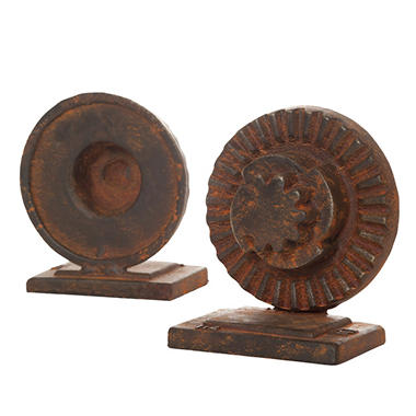 """Gears"" Bookends - 2 pk."
