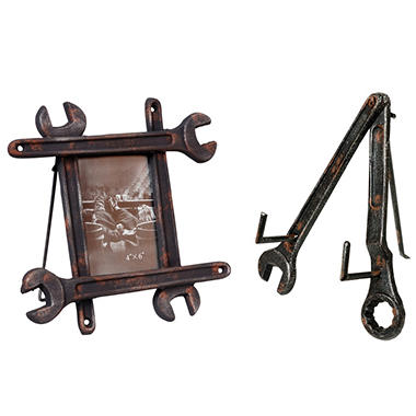 """Wrench"" Picture Frame and Easel Assortment"