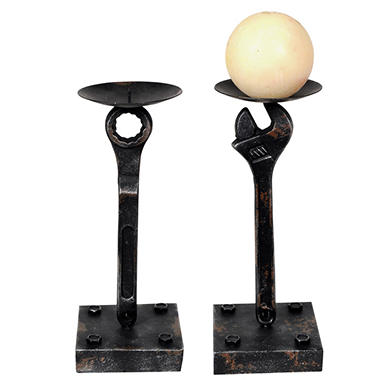 """Wrench"" Candle Holders - 2 pk."