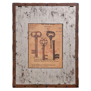 """Vintage Keys"" Wall Art - 2 pk."