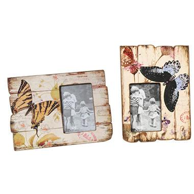 """""""Butterflies"""" Picture Frames - 2 pk."""