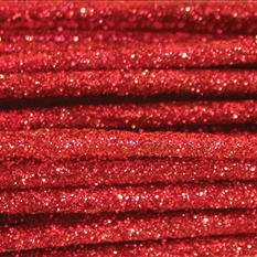Glitter Stems Solid Packs - Red (24 ct.)