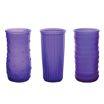 "8 1/2"" Rose Vase Assorted - Violet Frost (6 ct.)"