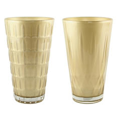 "9"" Cut Crystal Vase Assorted - Champagne (6 ct.)"