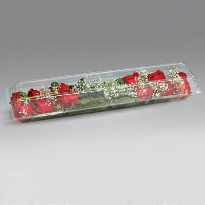 "25""x5 -1/4""x4""  Dozen Rose Box, Crystal (50 ct.)"