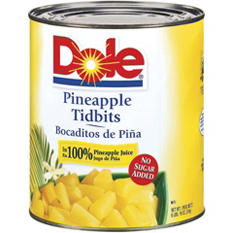 Dole Pineapple Tidbits (106 oz.)
