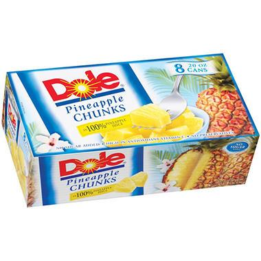 Dole® Pineapple Chunks - 8/20 oz. cans