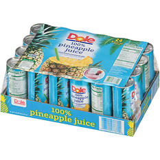 Dole 100% Pineapple Juice - 24 cans - 8.4 oz. each