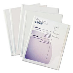 C-Line - Polypropylene Report Covers w/Binding Bars, Economy, Clear, 11 x 8 1/2 -  50/BX