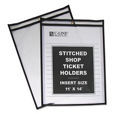 C-Line Stitched Plastic Shop Ticket Holders