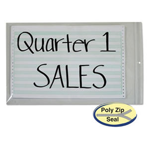 Poly zip shop ticket holder for 13x16-3/4 insert,50 per Box