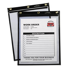 C-Line - Heavy-Duty Super Heavyweight Plus Shop Ticket Holders, Black, 12 x 9 -  15/BX