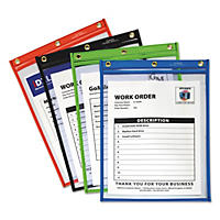 C-Line - Heavy-Duty Super Heavyweight Plus Shop Ticket Holders, Assorted, 12 x 9 -  20/BX