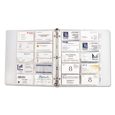 C-Line - Business Card Binder Pages, Holds 20 Cards, 8 1/8