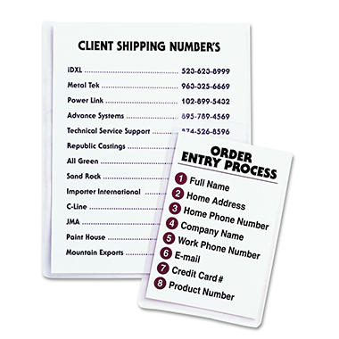 C-Line Self-Adhesive Vinyl Seal Shop Ticket Hldrs