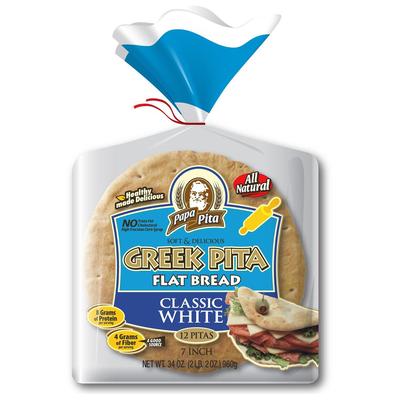 Greek Pita Pockets Papa Pita 7 Greek Pita Flat