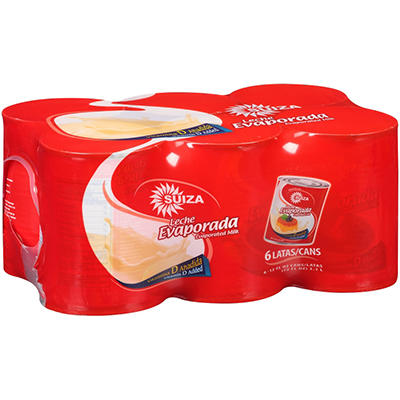 Suiza Evaporated Milk - 12 fl. oz. - 6 pk.