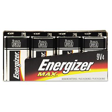 Eveready Energizer MAX Alkaline Batteries, 9V,4/Pk