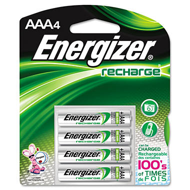 Energizer Rechargeable NiMH AAA Batteries - 4 pk