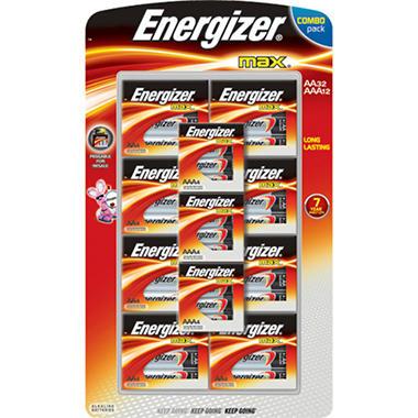 Energizer® AA32/AAA12 Combo Pack