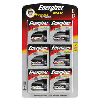 Energizer® Max D batteries - 12 ct.