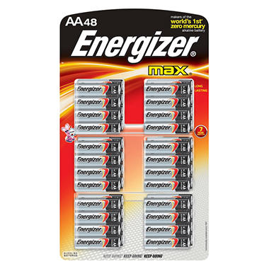 Energizer Max® - 48 AA batteries