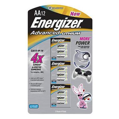 Energizer® Advanced Lithium AA - 12pk