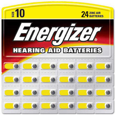 Energizer� Hearing Aid Batteries #10 ZincAir - 24 ct.