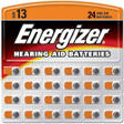 Energizer® HearingAid Batteries #13 ZincAir - 24 ct.