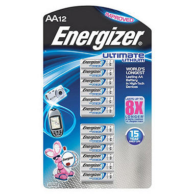 energizer ultimate lithium aa batteries 12 pk sam 39 s club. Black Bedroom Furniture Sets. Home Design Ideas