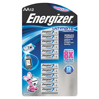 Energizer Ultimate Lithium AA - 12 pk.