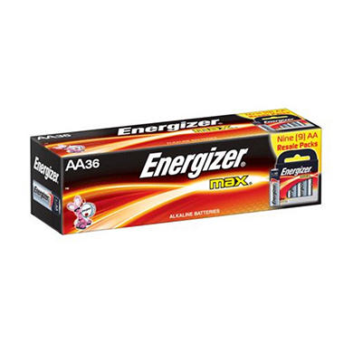 Energizer MAX AA Batteries - 36 ct. in Resale Packs