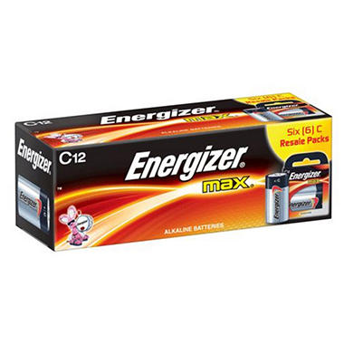 Energizer MAX C Batteries - 12 ct. in Resale Packs