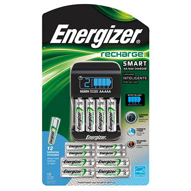 Energizer Recharge Smart Charger and Batteries