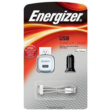 Energizer USB Charger Combo Pack